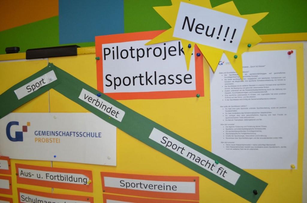 "Neu im GSP-Angebot ab dem Schuljahr 2015/16 ist das Pilotprojekt ""Sportklasse""."